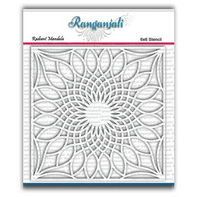 Ranganjali RADIANT MANDALA Exclusive Stencil