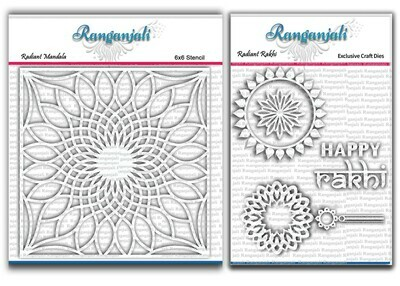 Ranganjali RADIANT RAKHI Exclusive Stencil and Craft Die set- Bundle