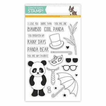 Simon Says Stamp COOL PANDA Clear Stamp Set