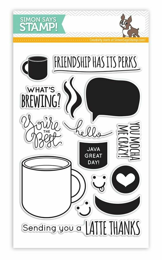 Simon Says Stamp WHAT'S BREWING Clear Stamp Set