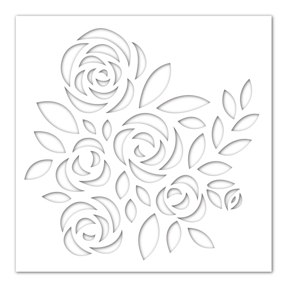 Simon Says Stamp BOUQUET OF ROSES Stencil