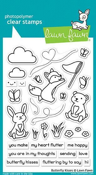 Lawn Fawn BUTTERFLY KISSES Clear Stamp Set