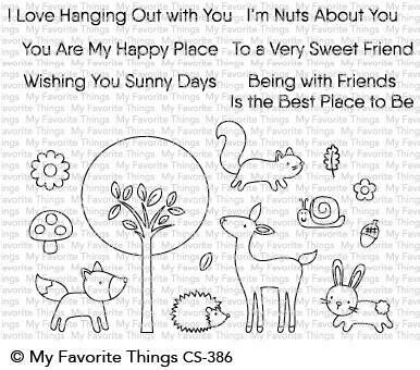 My Favorite Things SWEET SPRING FRIENDS Clear Stamp Set