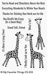 My Favorite Things PLAYFUL GIRAFFES Clear Stamp Set