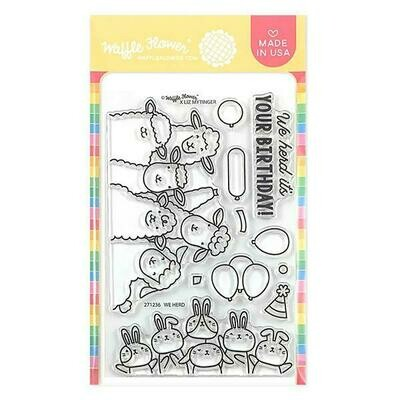 Waffle Flower WE HERD Clear Stamp Set