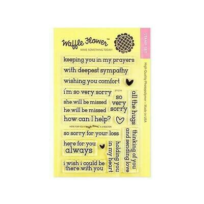 Waffle Flower HEAR FOR YOU  Clear Stamp Set