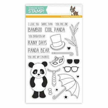 Simon Says Stamp COOL PANDA Clear Stamp Set