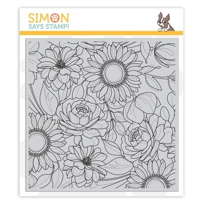 Simon Says Stamp FLORAL MIX Cling Stamp Set