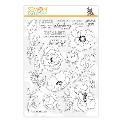 Simon Says Stamp DELICATE FLOWERS Clear Stamp Set