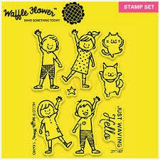 Waffle Flower HELLO Clear Stamp Set