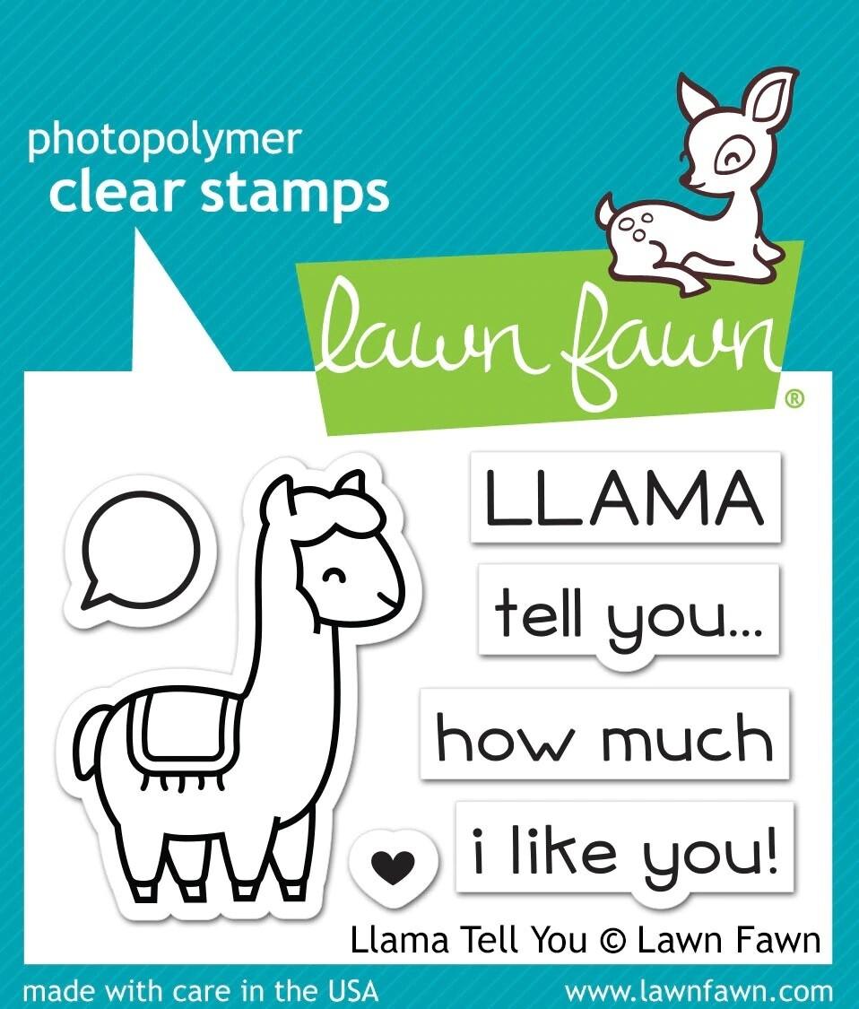 Lawn Fawn LLAMA TELL YOU Clear Stamp Set