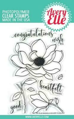 Avery Elle MAGNOLIA Clear Stamp Set