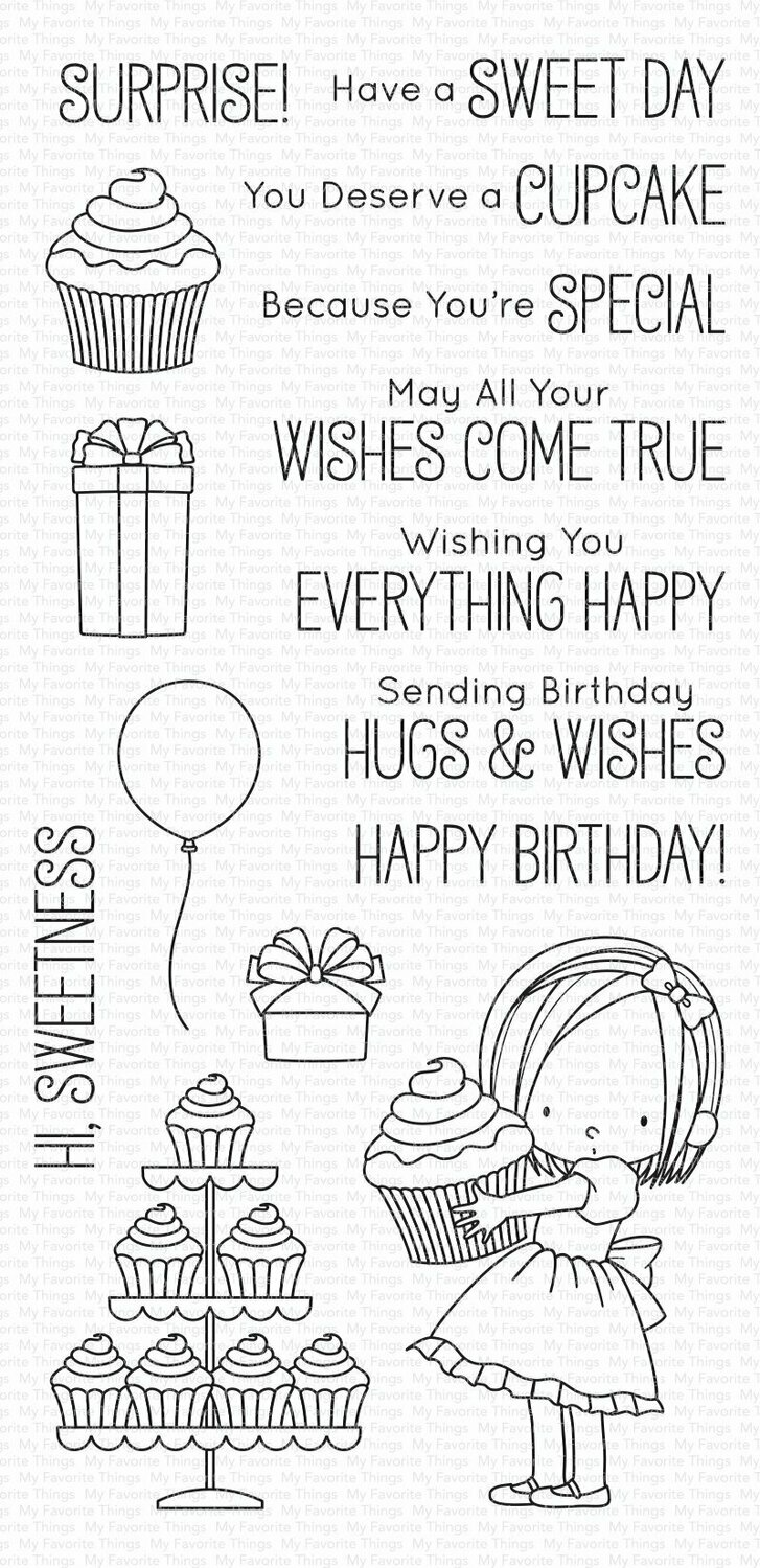 My Favorite Things BB SWEET BIRTHDAY WISHES  Clear Stamp Set