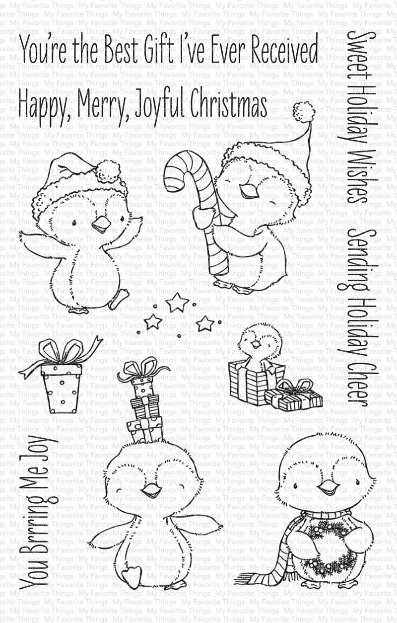 My Favorite Things SY SWEET HOLIDAY PENGUINS Clear Stamp Set