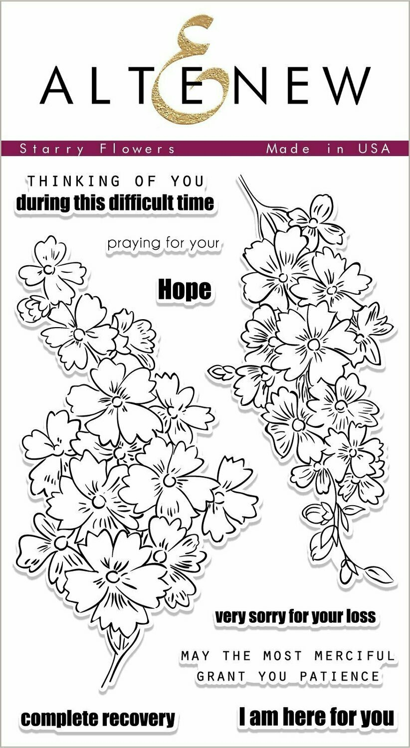 Altenew STARRY FLOWERS Clear Stamp Set