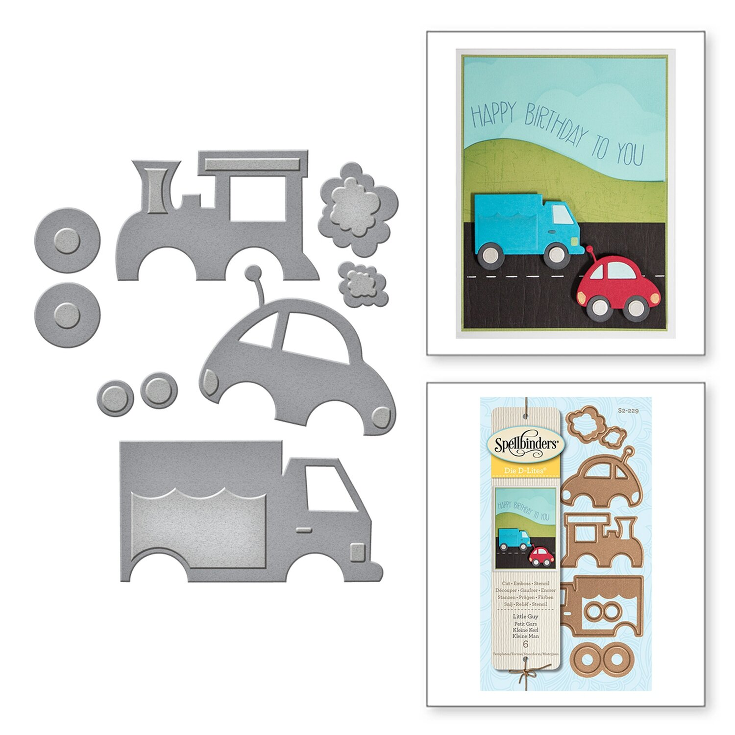 Spellbinders LITTLE GUY D-Lites  Die Set
