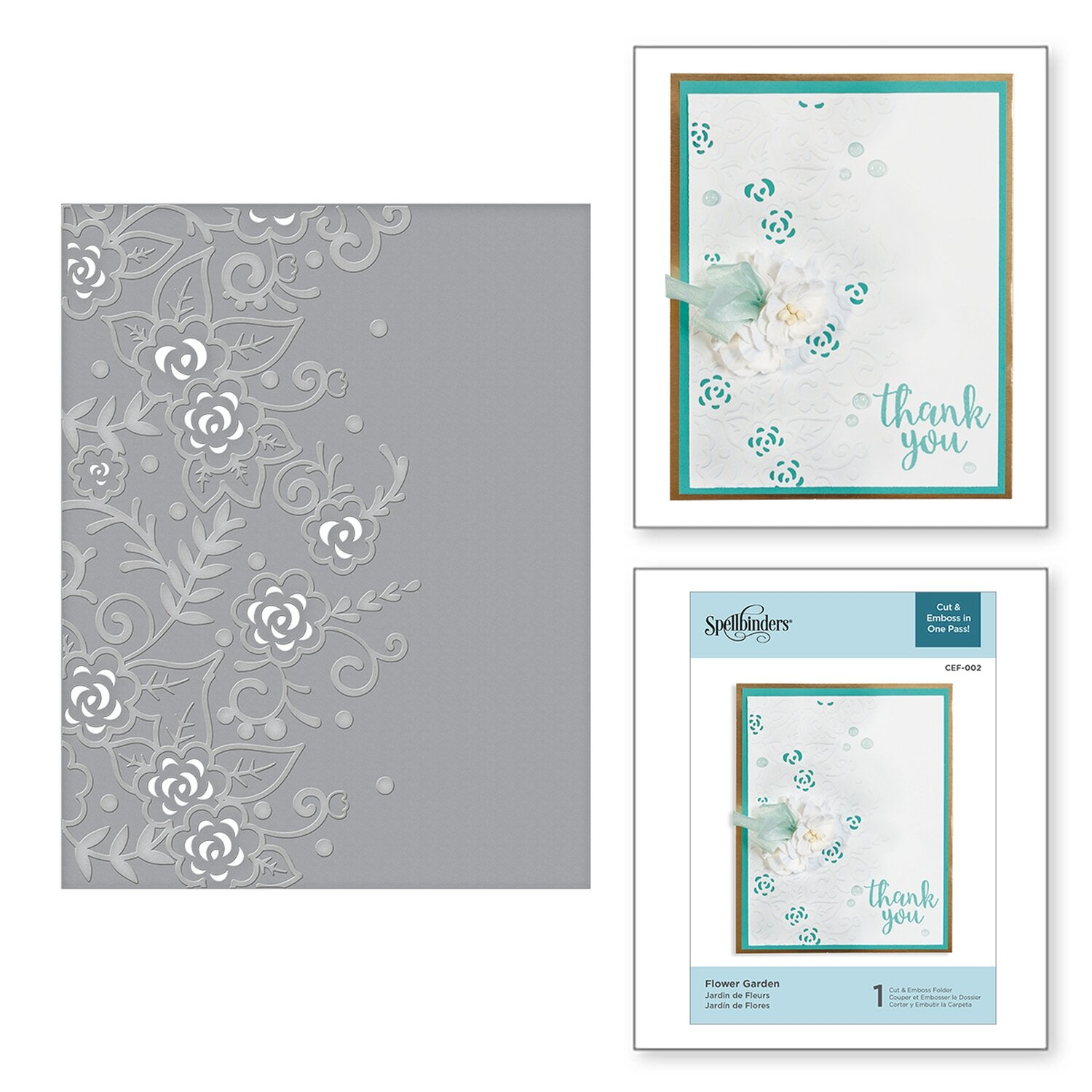 Spellbinders FLOWER GARDEN Cut and Emboss  Embossing Folder
