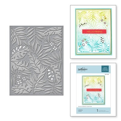 Spellbinders LAHAINA Cut and Emboss  Embossing Folder