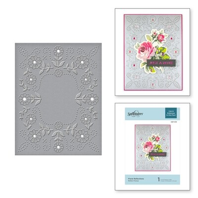 Spellbinders FLORAL REFLECTIONS Cut and Emboss Embossing Folder