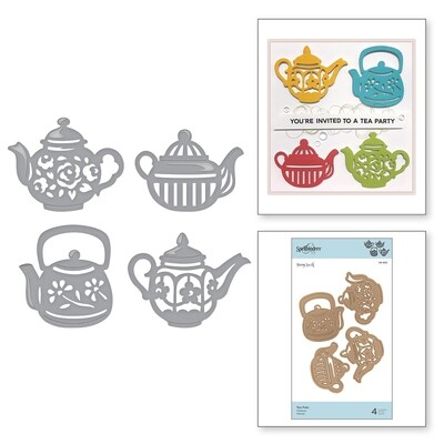 Spellbinders TEA POTS Shapeabilities Die Set