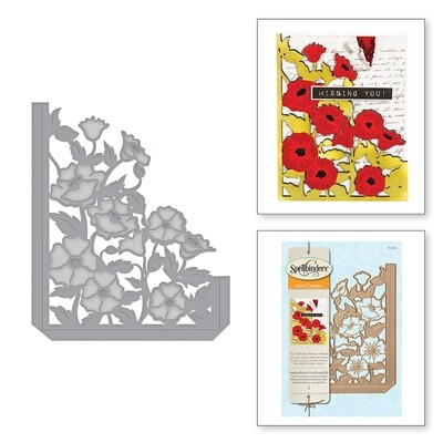 Spellbinders POPPIES POCKET A2 Card Creator Die Set
