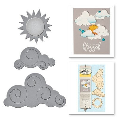 Spellbinders SUN AND CLOUDS D-Lites Die Set