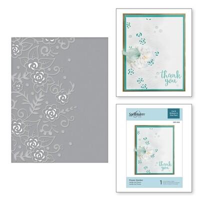 Spellbinders FLOWER GARDEN Cut and Emboss  Embossing Folder