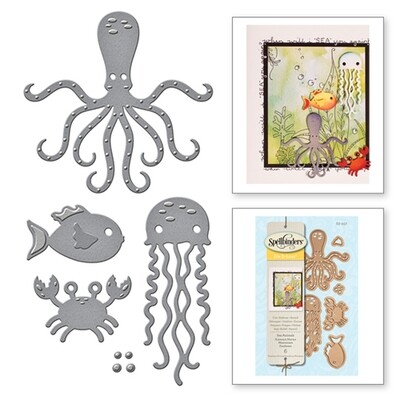 Spellbinders SEA ANIMALS Shapeabilities D-Lites  Die Set