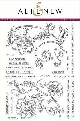 Altenew NEEDLEWORK MOTIF Clear Stamp Set