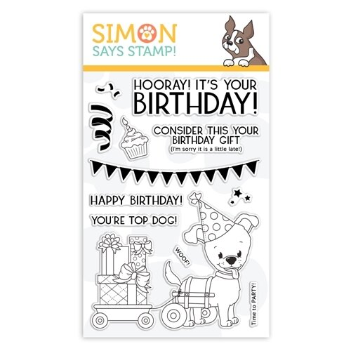 Simon Says Stamp TOP DOG BIRTHDAY Clear Stamp Set