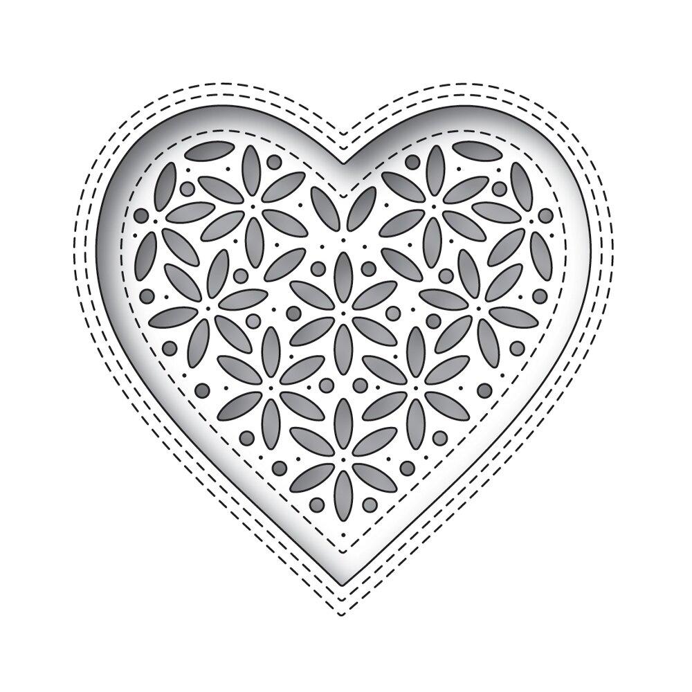 Simon Says Stamp SHIMMER HEART Die Set
