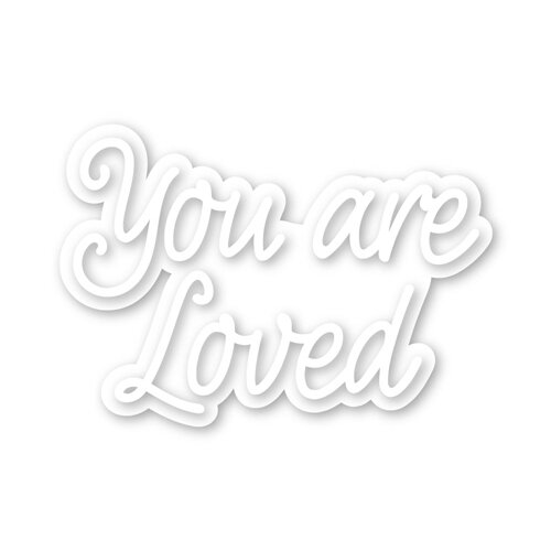 Simon Says Stamp YOU ARE LOVED Wafer Die Set