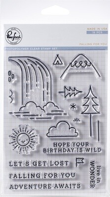 Pinkfresh Studio FALLING FOR YOU Clear Stamp Set