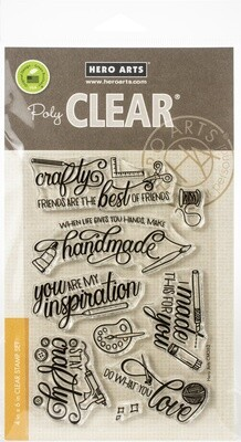 Hero Arts CRAFTY MESSAGES Clear Stamp Set