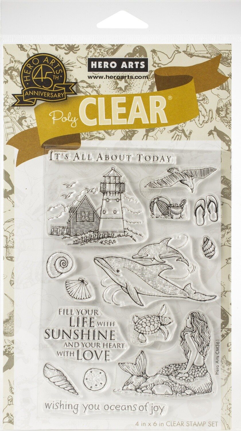Hero Arts BEACH AND SEA Clear Stamp Set