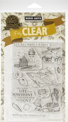 Hero Arts BEACH AND SEA Clear Stamp Set