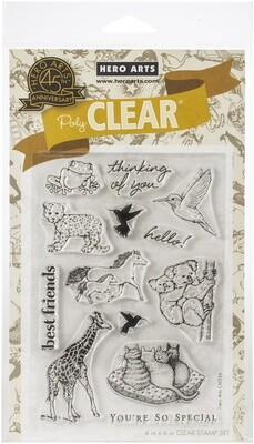 Hero Arts REALISTIC ANIMALS Clear Stamp Set