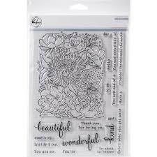 Pinkfresh Studio FLOWER GARDEN Clear Stamp Set