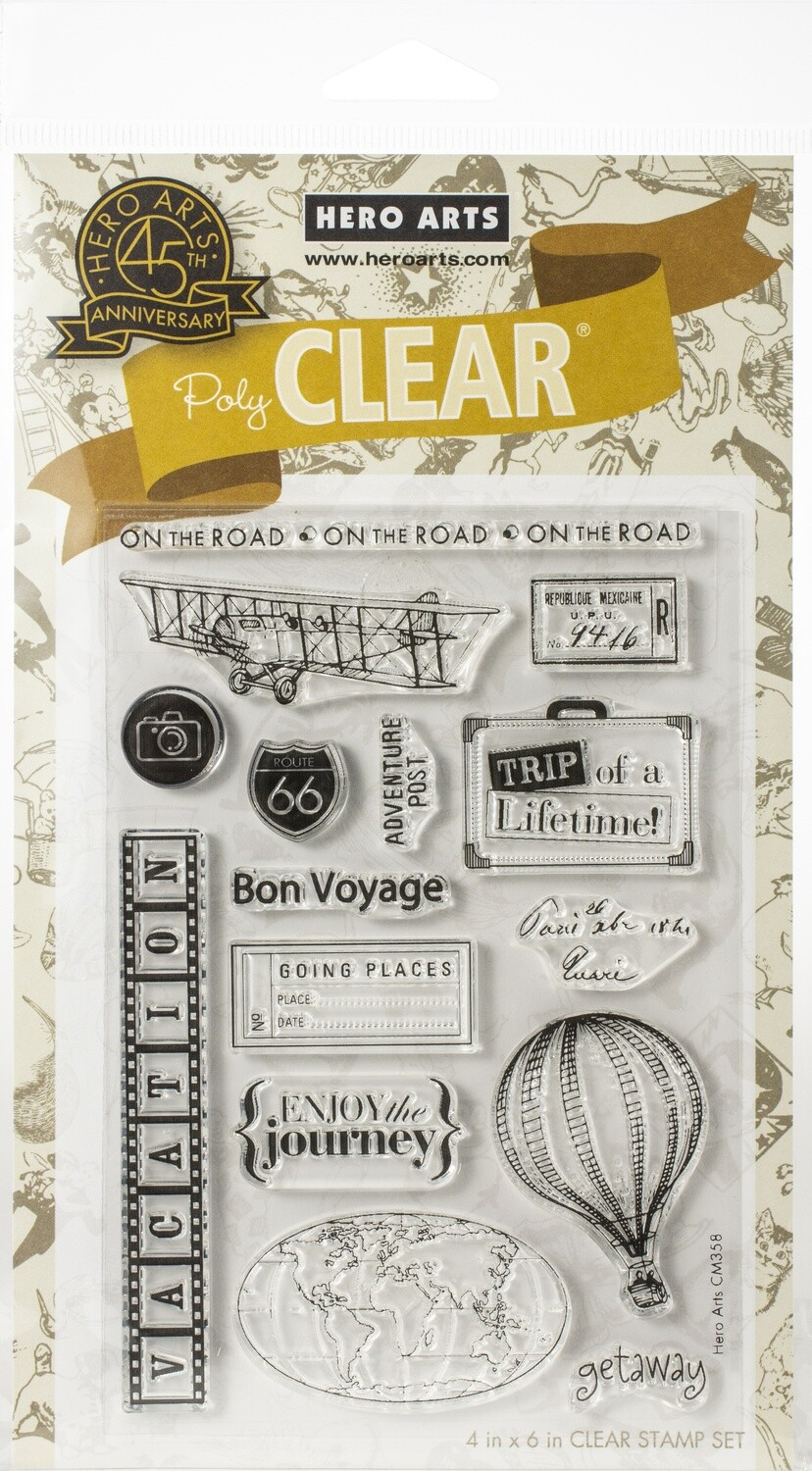 Hero Arts TRAVEL Clear Stamp Set
