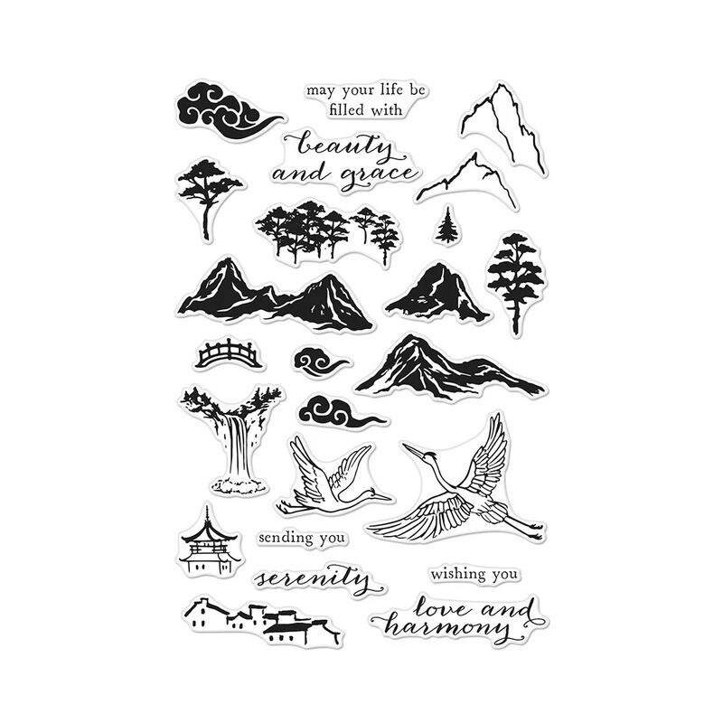 Hero Arts INK PAINTING SCENE Clear Stamp Set