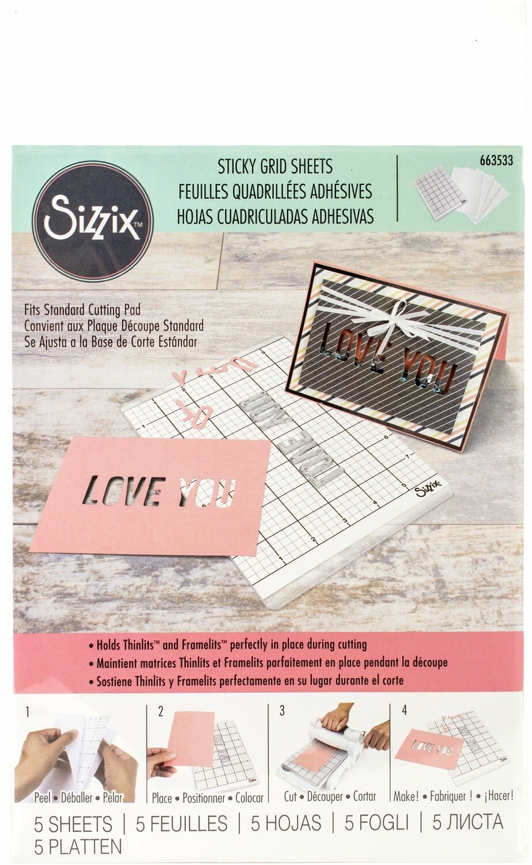 Sizzix Big Shot STICKY GRID Sheets- 5/pack
