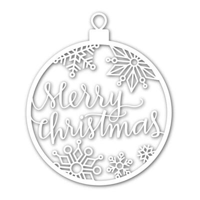 Simon Says Stamp MERRY CHRISTMAS ORNAMENT Die