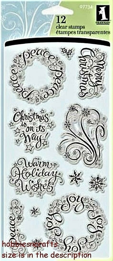 Inkadinkado WARM HOLIDAY WISHES Clear Stamp Set