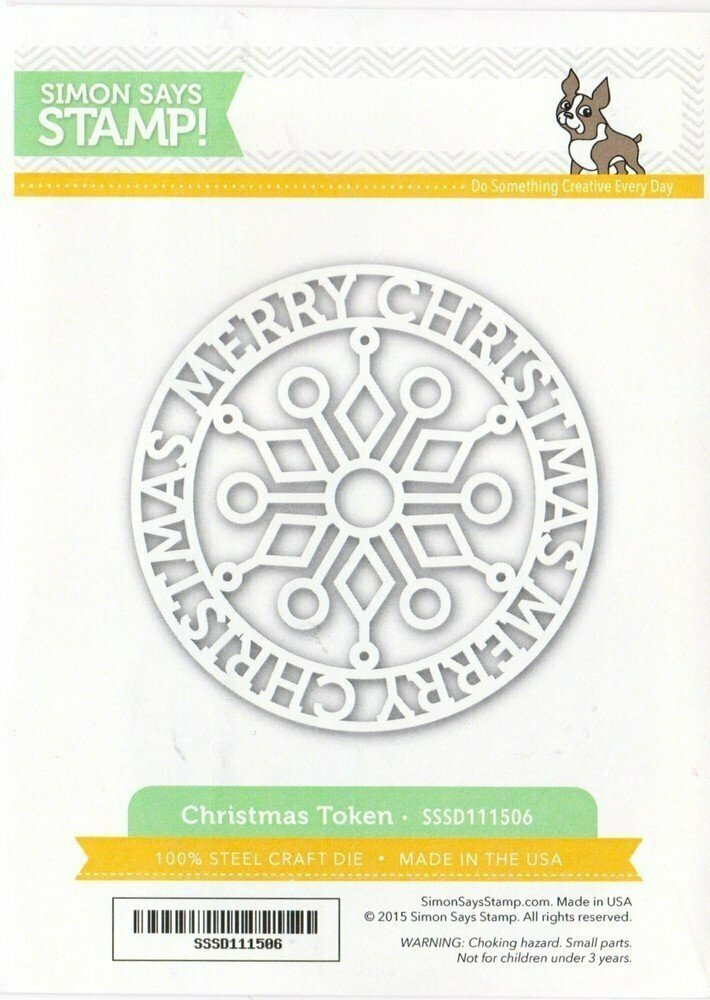 Simon Says Stamp CHRISTMAS TOKEN Wafer Die