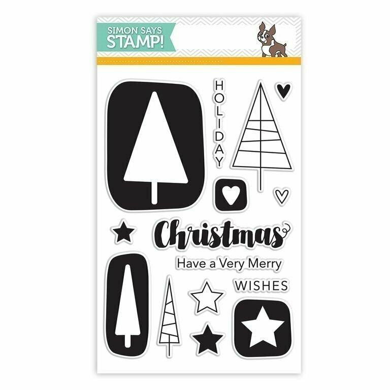 Simon Says Stamp CHRISTMAS GRAPHIC Clear Stamp Set