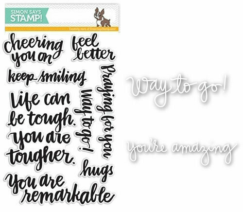 Simon Says Stamp CHEERING YOU ON Coordinating Die & Stamp Set