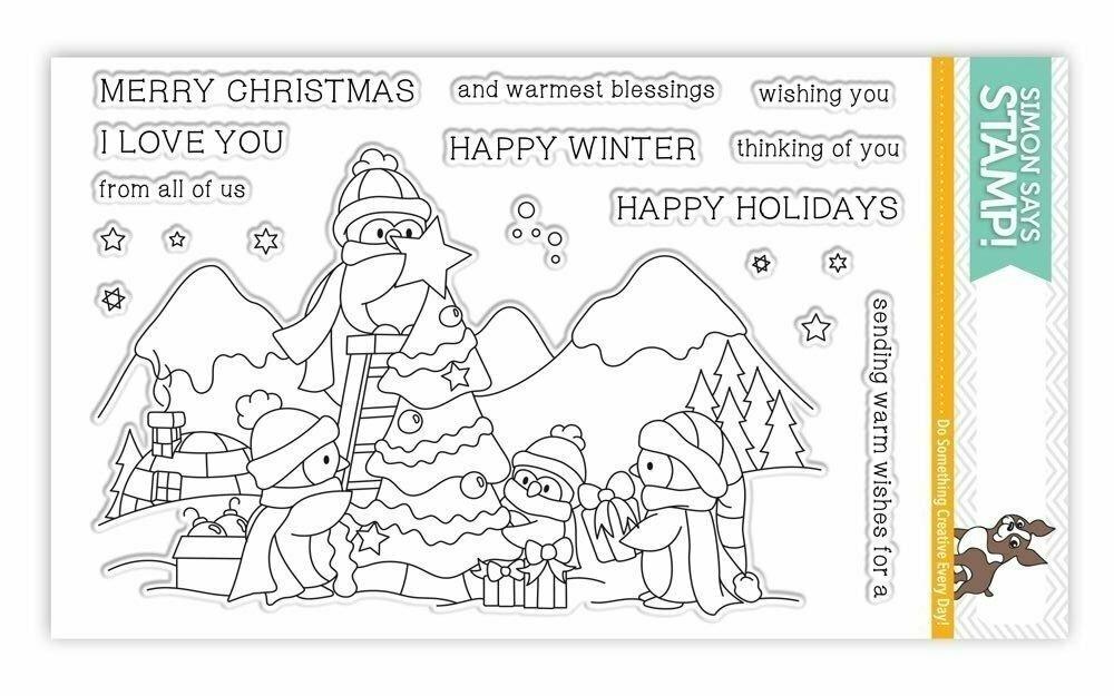 Simon Says Stamp AN ARCTIC CHRISTMAS Clear Stamp Set