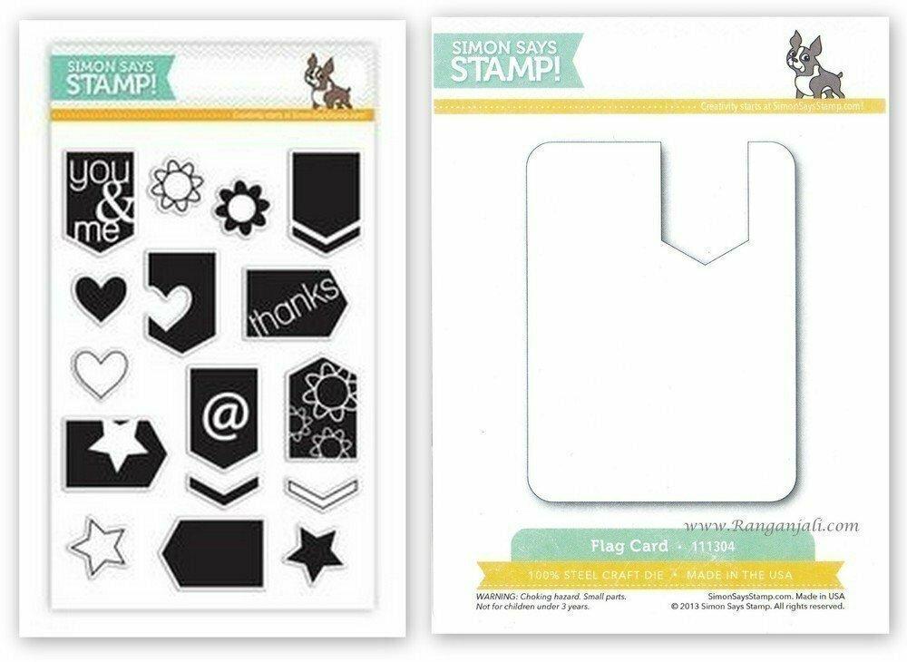Simon Says Stamp ARROW FLAGS Coordinating Stamp & Die Set