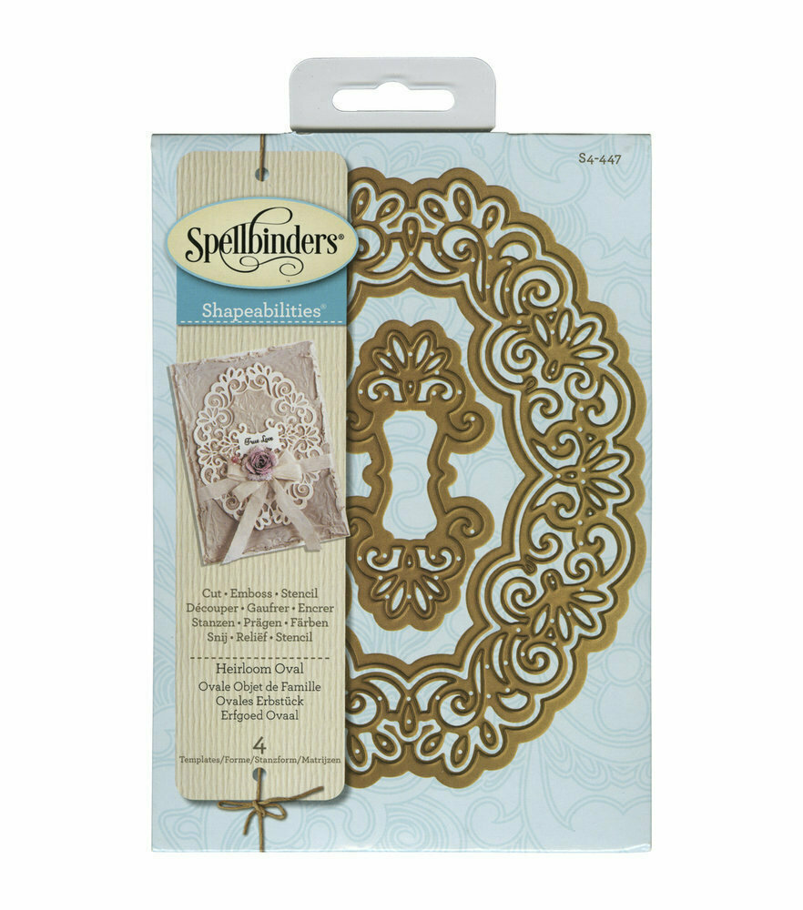 Spellbinders HEIRLOOM OVAL Shapeabilities Die Set