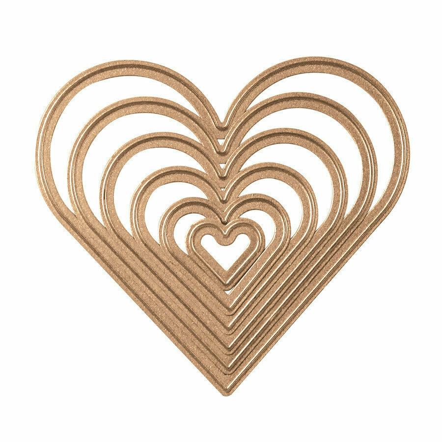 Spellbinders CLASSIC HEART Nestabilities Etched Dies